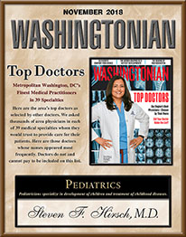 Washingtonian Top Doctors Hirsch Pediatrics Rockville, Maryland