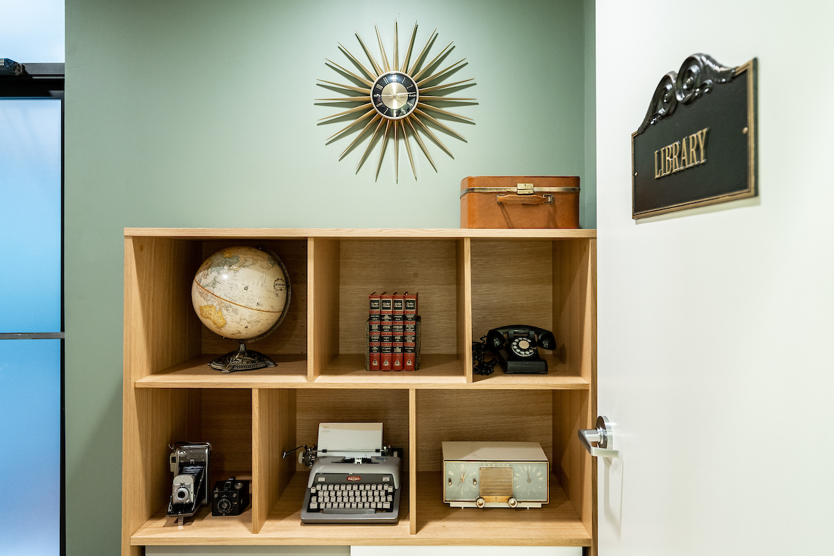 The Library room at Dr. Hirsh office